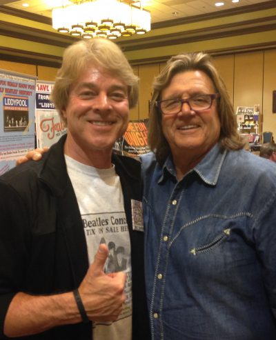 With British Invader Billy J. Kramer at The Los Angeles Fest For Beatles Fans.