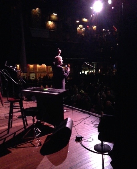 Playing to the upper balcony at the House of Blues - Cleveland, Ohio