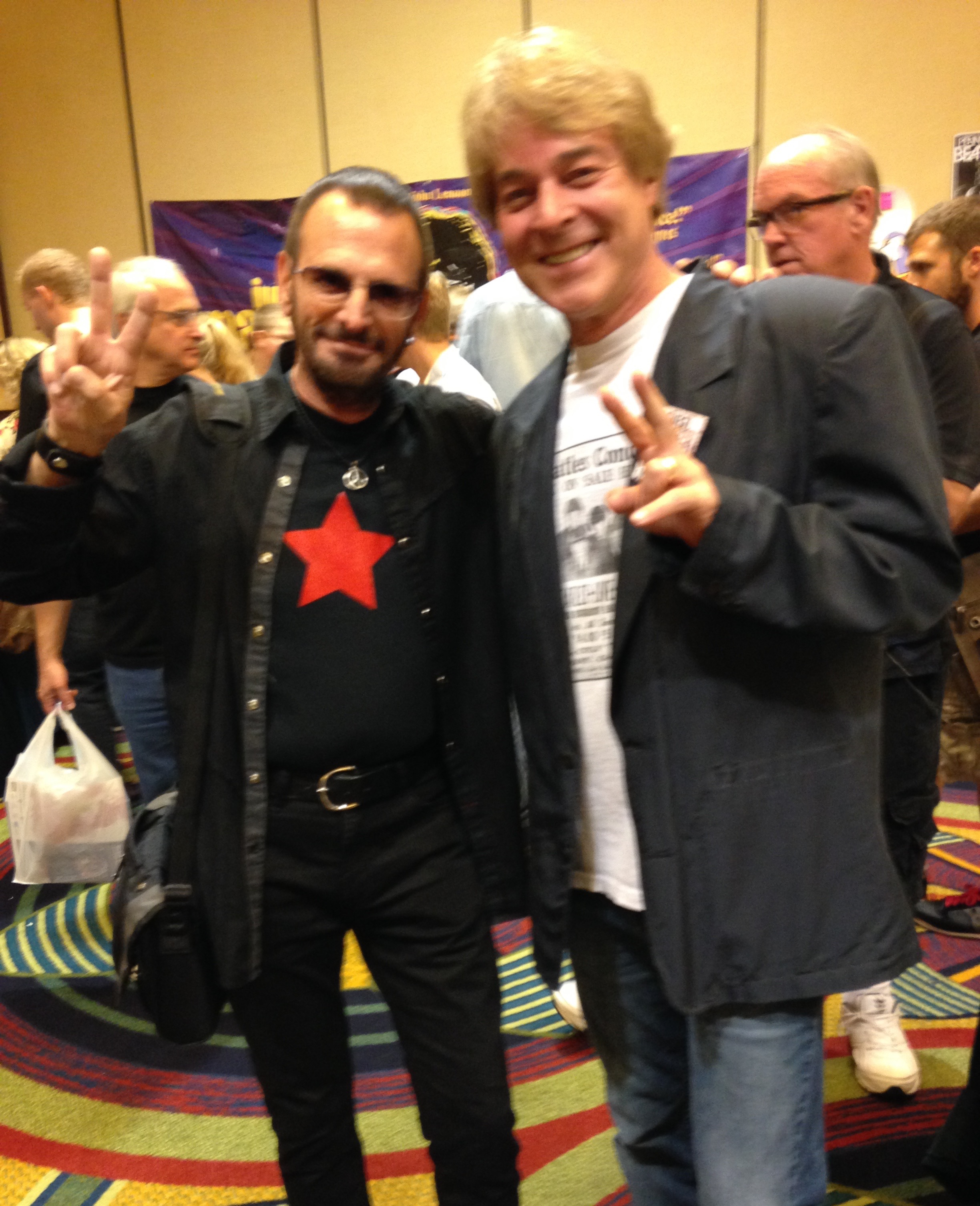 Fooled you!! With Ringer Starr at The Los Angeles Fest For Beatles Fans.